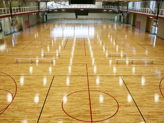 Bradley University Gym Rubber Flooring