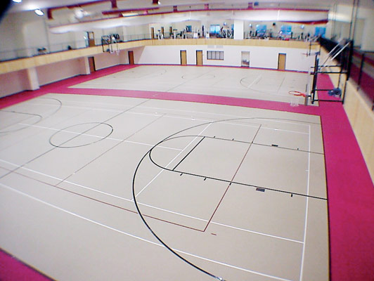 Fergus Falls Gym Rubber Flooring