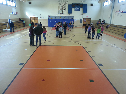 Gerald Elementary - Gym Rubber Flooring