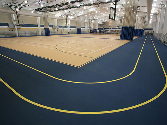Greensburg High School - Gym Rubber Flooring
