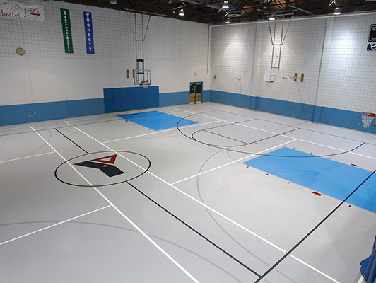 Gym Synthetic Floor - Hammond YMCA