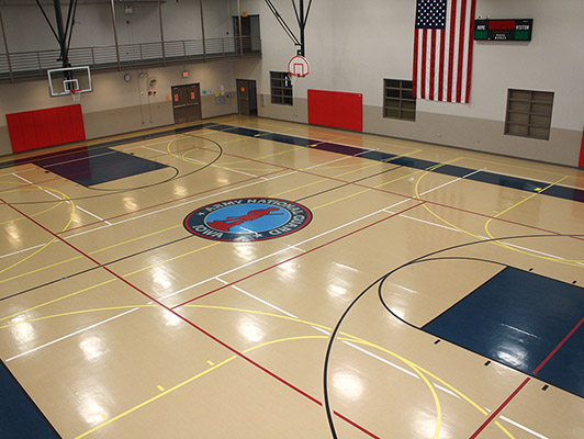 Iowa National Guard Estherville - Gym Rubber Flooring