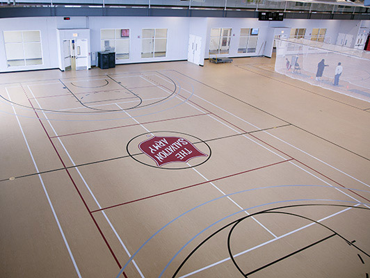 Kroc Community Center - Gymnasium Rubber Flooring