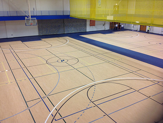 Northeastern University - Gym Rubber Floor