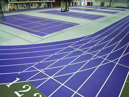 Cornell College - Indoor Track / Fieldhouse Flooring