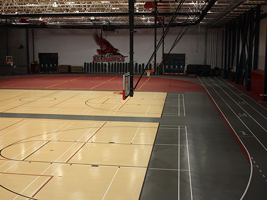 Southeast Missouri State University - Running Track / Fieldhouse Flooring