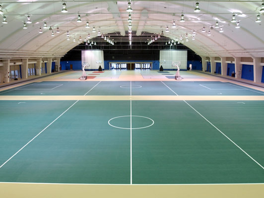 Northern Illinois University Gym Rubber Flooring