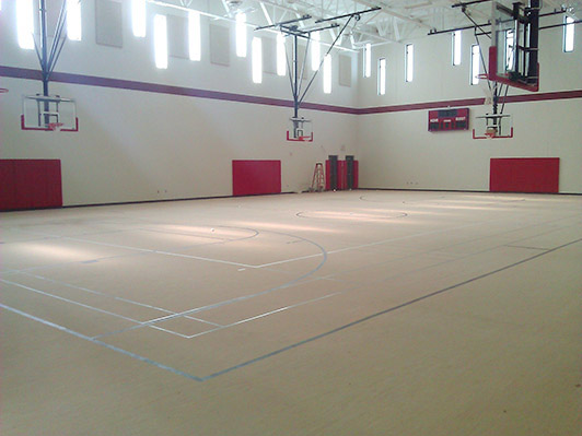 Pequot Lakes School Rubber Gym Floor