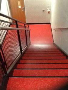 rubber flooring - stairs