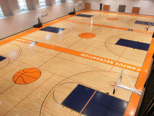 University Of Illinois Rubber Gym Flooring