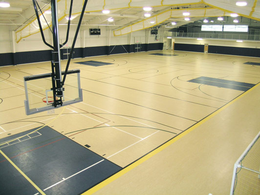 University Of St. Mary's Rubber Gym Flooring
