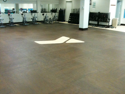 YMCA - Odessa Workout Room Flooring