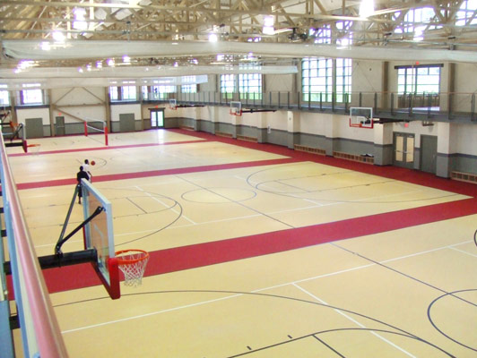 Youngstown State University Rubber Gym Flooring