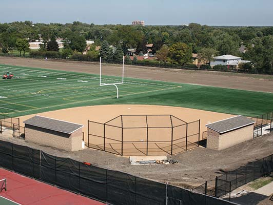 Addison Trail High School Baseball / Softball Synthetic Turf