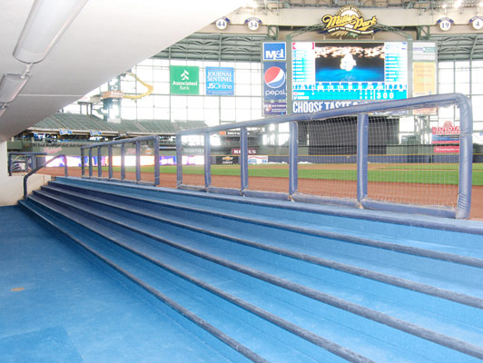 Milwaukee Brewers Dugout Baseball / Softball Field Turf