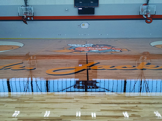 Chester Elementary Basketball Flooring
