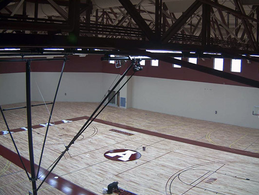 Alma College Basketball Flooring