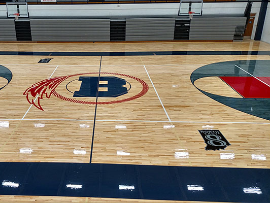 Basketball Flooring - Bellmont High School
