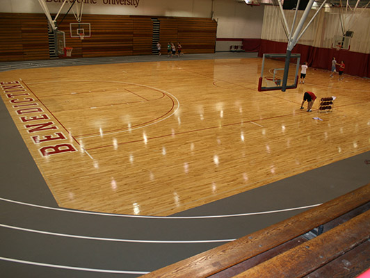 Benedictine University Basketball Flooring