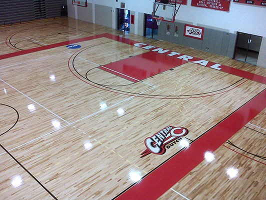 Central College Basketball Flooring