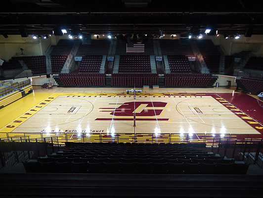 Central Michigan University Basketball Flooring