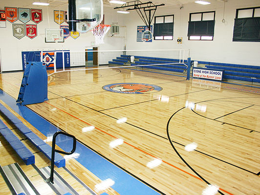 Cisne High School Basketball Flooring