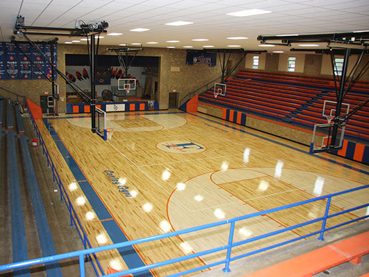 Flora High School Basketball Flooring