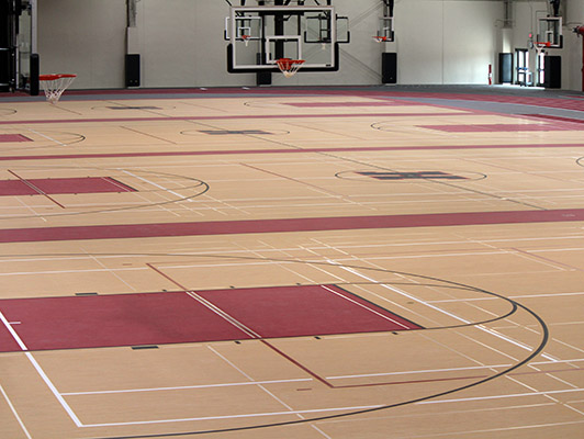 Huntley High School Basketball Flooring