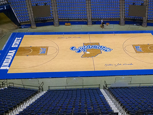 Indiana State University Basketball Flooring