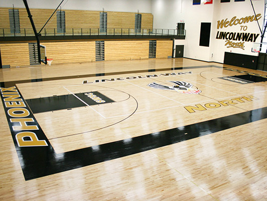 Lincolnway North High School Basketball Flooring