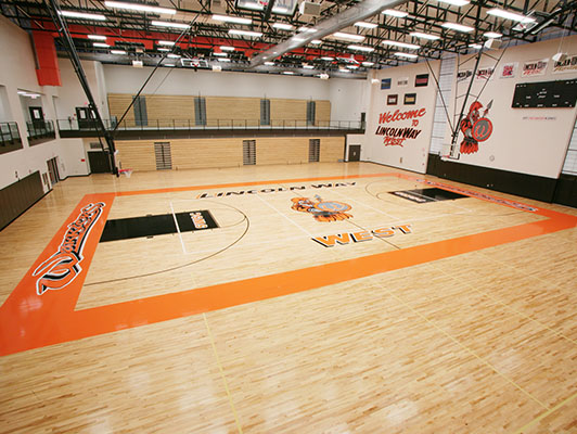 Lincolnway West High School Basketball Flooring