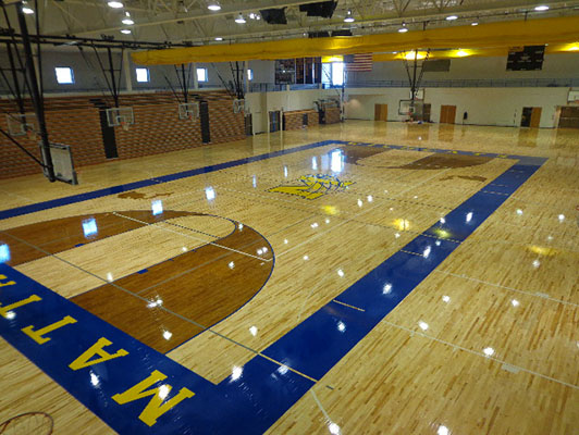 Mattawan High School Basketball Flooring