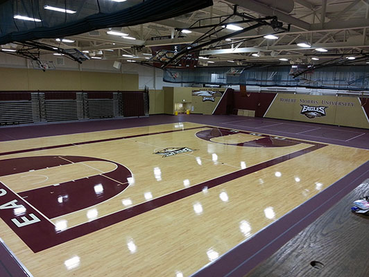 Robert Morris University Basketball Flooring
