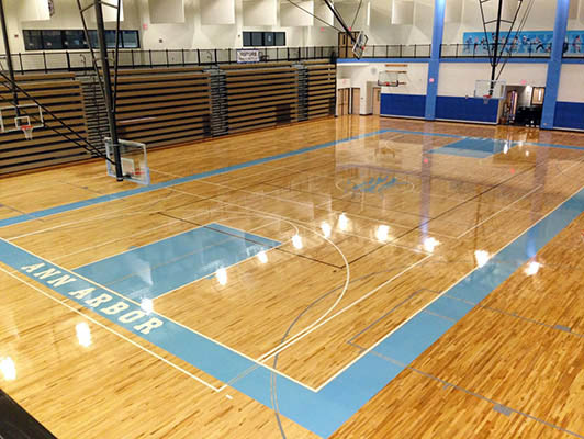 Skyline High School Basketball Flooring