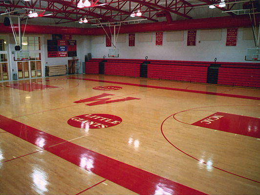 Wabash College Basketball Flooring