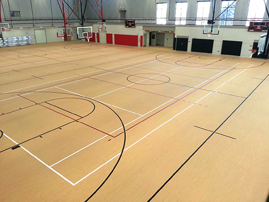 Wabonsee Community College Basketball Flooring