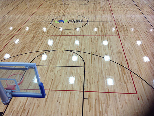 West Chicago Park District Basketball Flooring