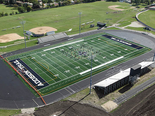 Addison Trail High School Football Field Turf