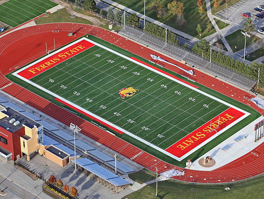 Ferris State University Football Artificial Turf