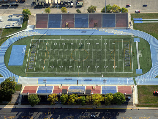 Joilet Memorial Stadium Football Artificial Turf