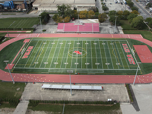 Niles West High School Football Field Artificial Turf