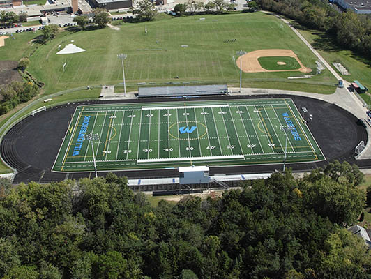 Willowbrook High School Football Synthetic Turf