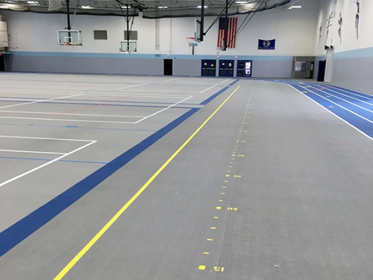Becker High School - Indoor Track / Fieldhouse Flooring