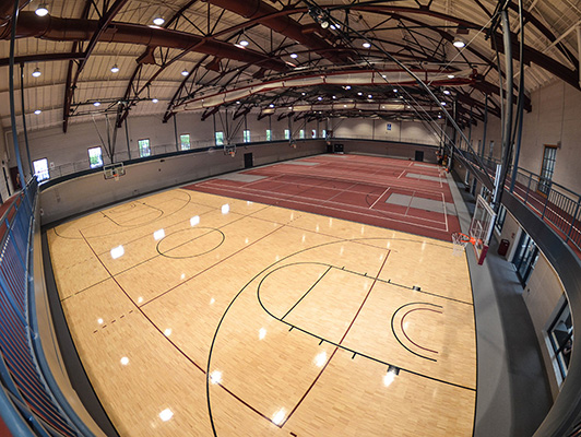 Earlham College - Indoor Track / Fieldhouse Flooring