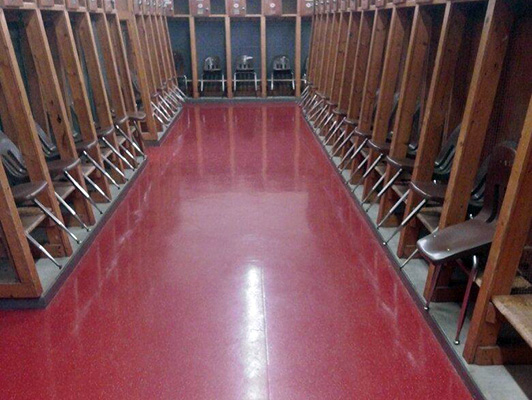 Germantown High School Locker Room Flooring