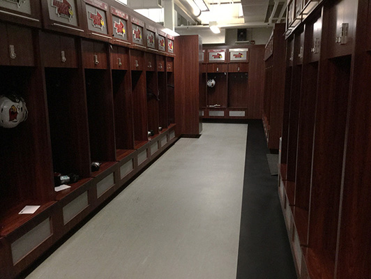 IL State University Locker Room Flooring