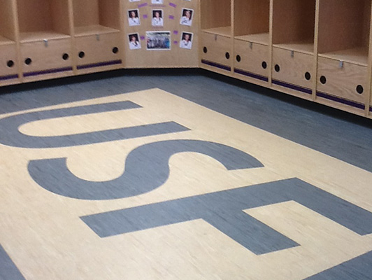 University Of Sioux Falls Locker Room Flooring