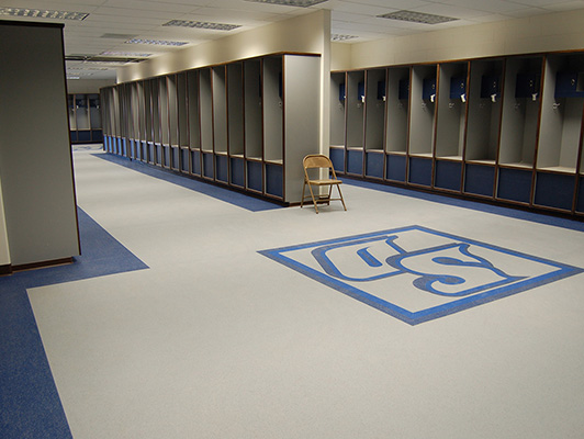 San Diego University - Locker Room Flooring