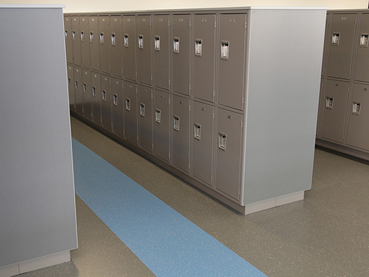Alexandria High School Locker Room Flooring