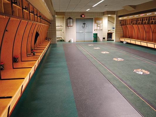 Locker Room Flooring - University Of North Dakota